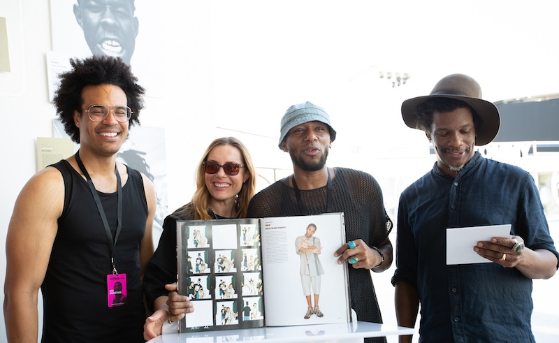 Vikki Tobak, Mos Def, Barron Claiborne at Sole DXB 2018